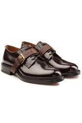Valentino Patent Leather Lace Ups Brown