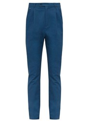 Bless Longpleat Cotton Slim Leg Trousers Blue