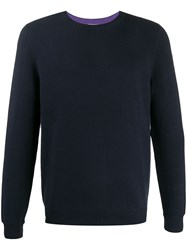 Lacoste Live Logo Knitted Jumper Blue