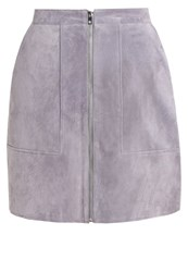Vero Moda Vmclaire Leather Skirt Frost Gray Light Grey