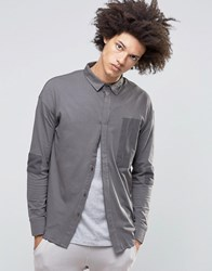 Systvm Cain Shirt In Ash Grey