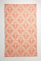 Anthropologie Handwoven Pankha Rug Coral