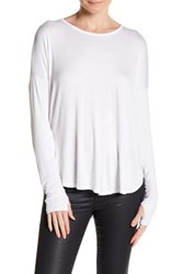 Sweet Romeo Long Sleeve Dolman Tee White