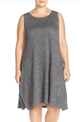 Plus Size Women's Eileen Fisher Organic Linen Melange Tank Dress