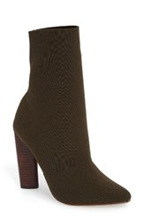 Steve Madden Women's Capitol Stretch Bootie Olive Fabric