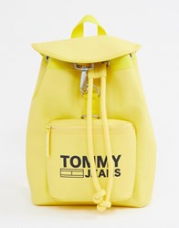 Tommy Jeans Mini Backpack With Logo Tape Straps Yellow