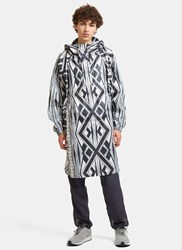 Snow Peak Landscape Printed Artwork Poncho Jacket White