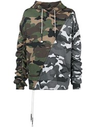 Mostly Heard Rarely Seen Mixed Camouflage Hoodie Green