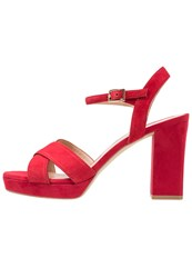 Bruno Premi Platform Sandals Rosso Red