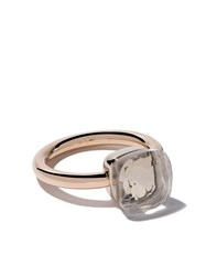 Pomellato 18Kt Rose And White Gold Nudo White Topaz Ring Unavailable