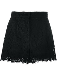 Dolce And Gabbana Floral Lace Shorts Black