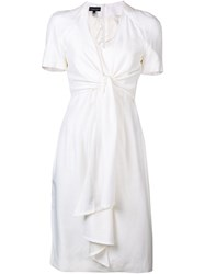 Jean Louis Scherrer Vintage Knot Detail Dress White