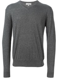 Canali V Neck Sweater Grey