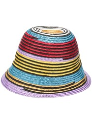 Missoni Mare Woven Hat Red