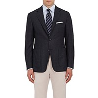 Canali Men's Kei Two Button Sportcoat Dark Grey