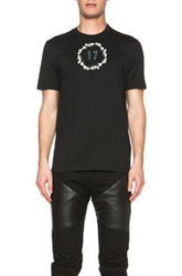 Givenchy Cuban Fit 17 Metal Cotton Tee With Baby's Breath Wreath In Black Floral