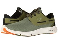 Sperry 7 Seas 3 Eye Olive Camo Men's Lace Up Casual Shoes Green