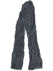 John Varvatos Muted Print Scarf Blue
