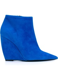 Nicholas Kirkwood Wedge Booties Blue