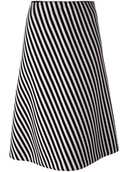Christian Wijnants Striped A Line Skirt Women Polyurethane Spandex Elastane Viscose 40 Black