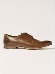 Topman Brown Tan Leather Luther Derby Shoes