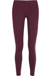Monreal London Biker Ruched Stretch Jersey Leggings Burgundy