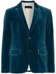 Haider Ackermann Velvet Suit Jacket Blue