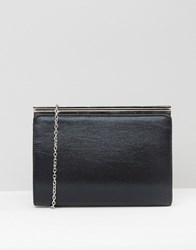 Lotus Shimmer Box Clutch Bag Black Shimmer