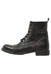 Pier One Laceup Boots Black Barro