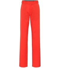 Vetements High Rise Straight Wool Pants Red