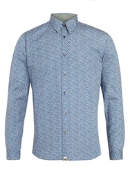 Pretty Green Paddison Floral Shirt Blue