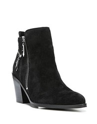 Fergie Bianca Suede Ankle Boots Black