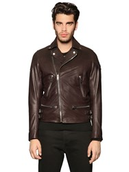 Diesel Suede And Leather Biker Jacket