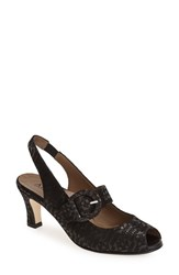 Women's Anyi Lu 'Tulip' Slingback Pump Pewter Tribal Shimmer