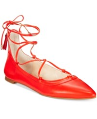 Inc International Concepts Zadde Lace Up Pointed Toe Flats Only At Macy's Women's Shoes