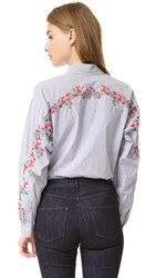 Tanya Taylor Romy Shirt White Midnight