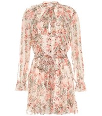 Zimmermann Printed Silk Playsuit Multicoloured