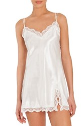 In Bloom By Jonquil Women's Satin Chemise Off White