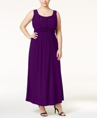 Love Squared Trendy Plus Size Empire Waist Dress Purple