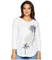 Fresh Produce Palm Eclipse Catalina Top White Clothing