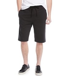 Vince Solid Knit Sweat Shorts Black