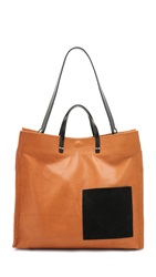 Clare V. Simple Tote With Patch Pocket British Tan Black