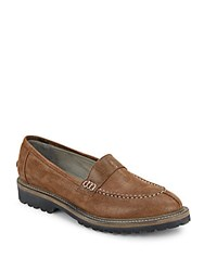 Brunello Cucinelli Saffiano Leather Loafers Dark Brown