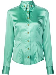 Vivienne Westwood High Button Down Shirt Green