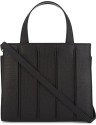 Max Mara Whitney Extra Small Leather Tote Black