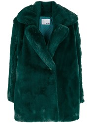 Each X Other Vegan Mink Tailored Coat Green
