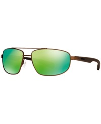Revo Sunglasses Revo Re1018 Wraith 61 Brown Green Mirrored Polar