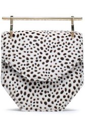 M2malletier Amor Animal Print Calf Hair Clutch Off White Off White