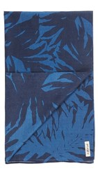 The Hill Side Ultralight Palm Leaves Print Scarf Blue