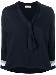 Ma'ry'ya V Neck Sweater Blue